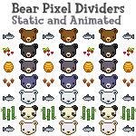 F2U: Bear Pixel Dividers