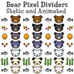 F2U: Bear Pixel Dividers by LilMissSunBear