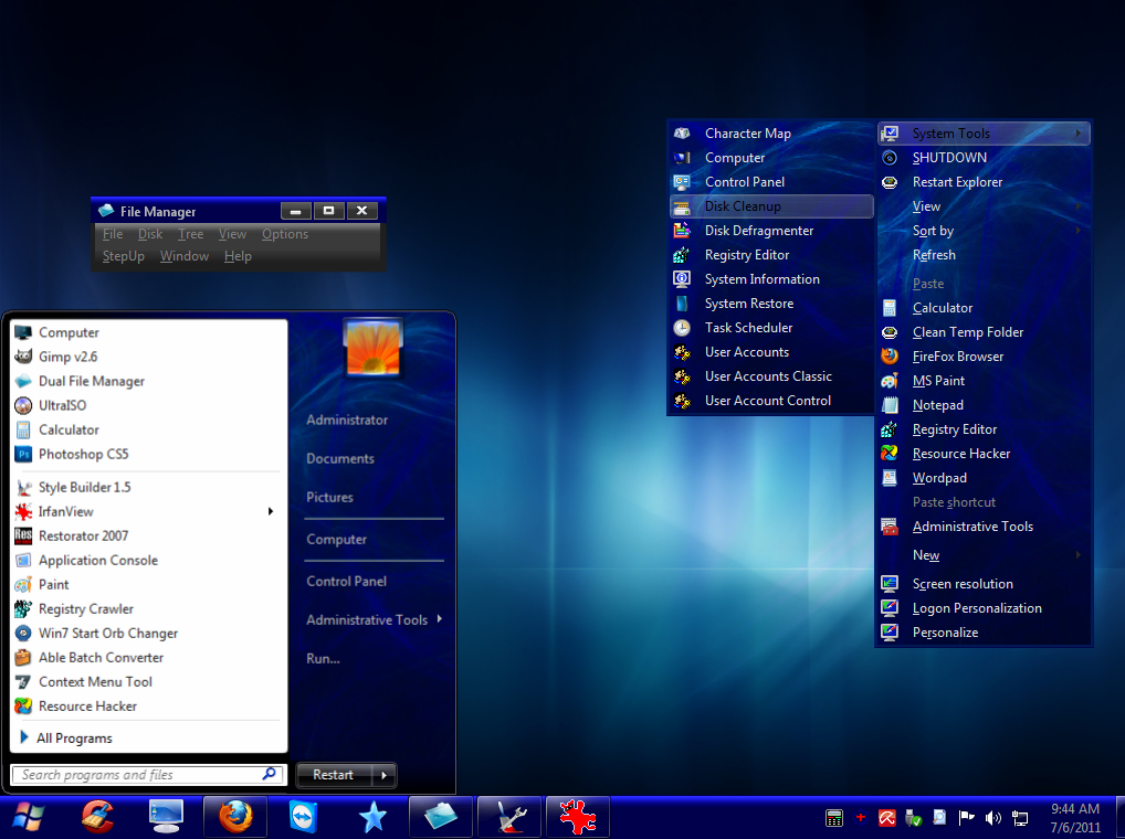 neon windows 7 theme by mrgrim01