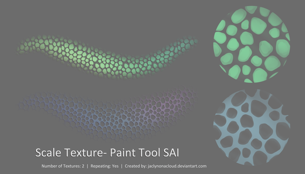 Paint Tool Sai Fish Scale Tutorial
