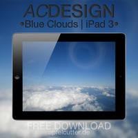 Blue Clouds | iPad 3 Wallpaper by apfelcutter