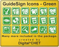 GuideSign Simple - Green by digitalchet