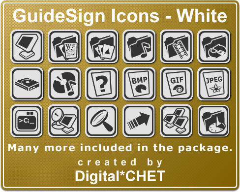 GuideSign Simple - White by digitalchet