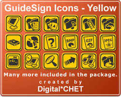 GuideSign Simple - Yellow by digitalchet
