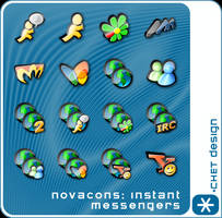Novacons Instant Messeng Icons by digitalchet