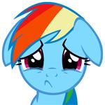 Rainbow Dash sadface