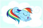 Rainbow Dash sleeping 2
