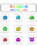 Rainbow Emote Pack by SnowSniffer