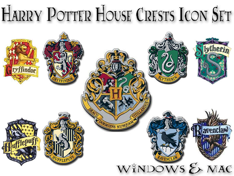 Harry Potter House Crest Icons By Xnauticalstar On Deviantart