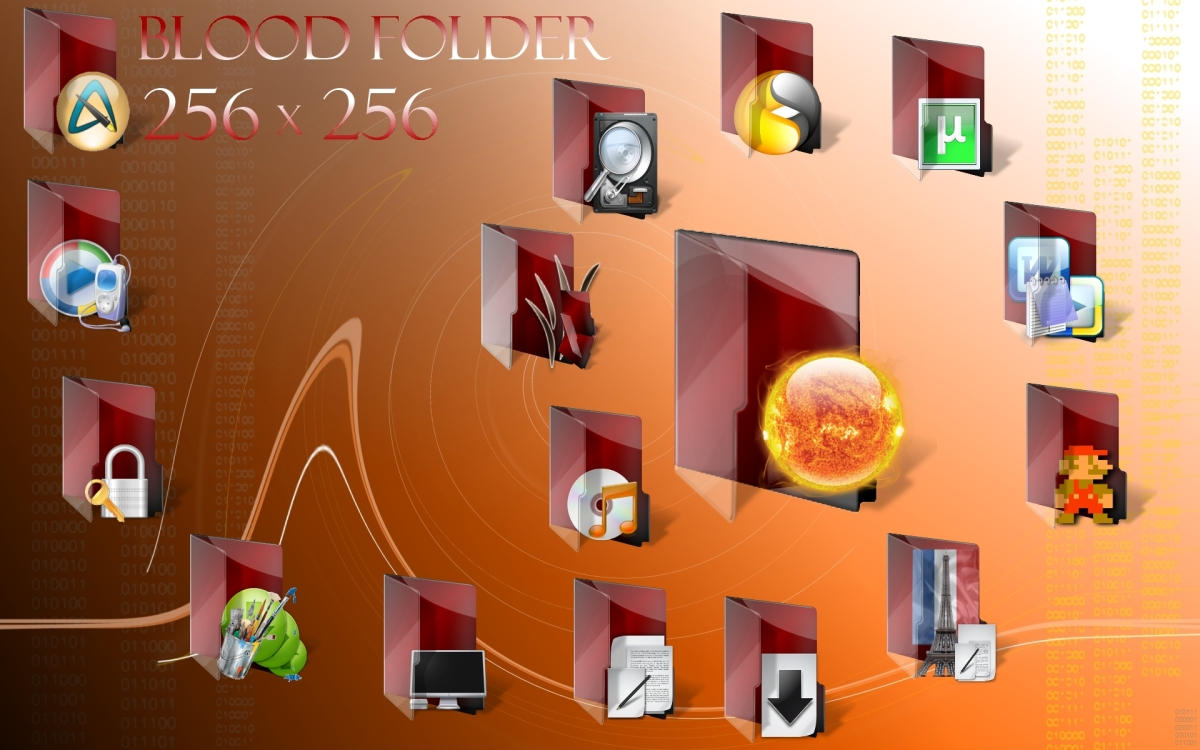 Blood Folder Set IV by centpushups