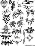 Tribal Brush Set 1