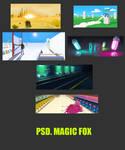 magic fox psd