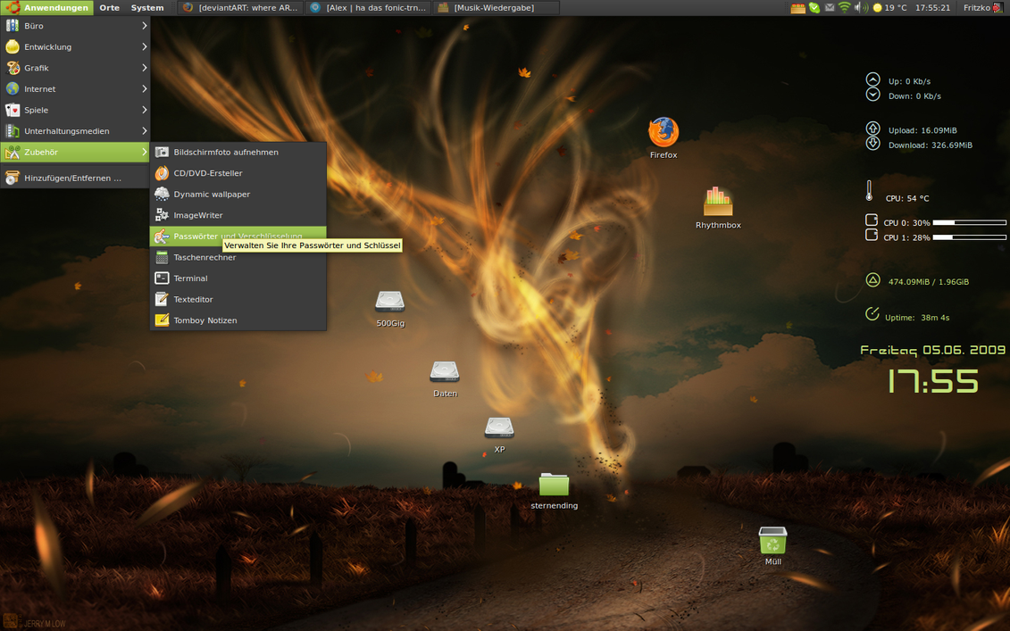 Linux Mint Theme for Ubuntu by Fritzko