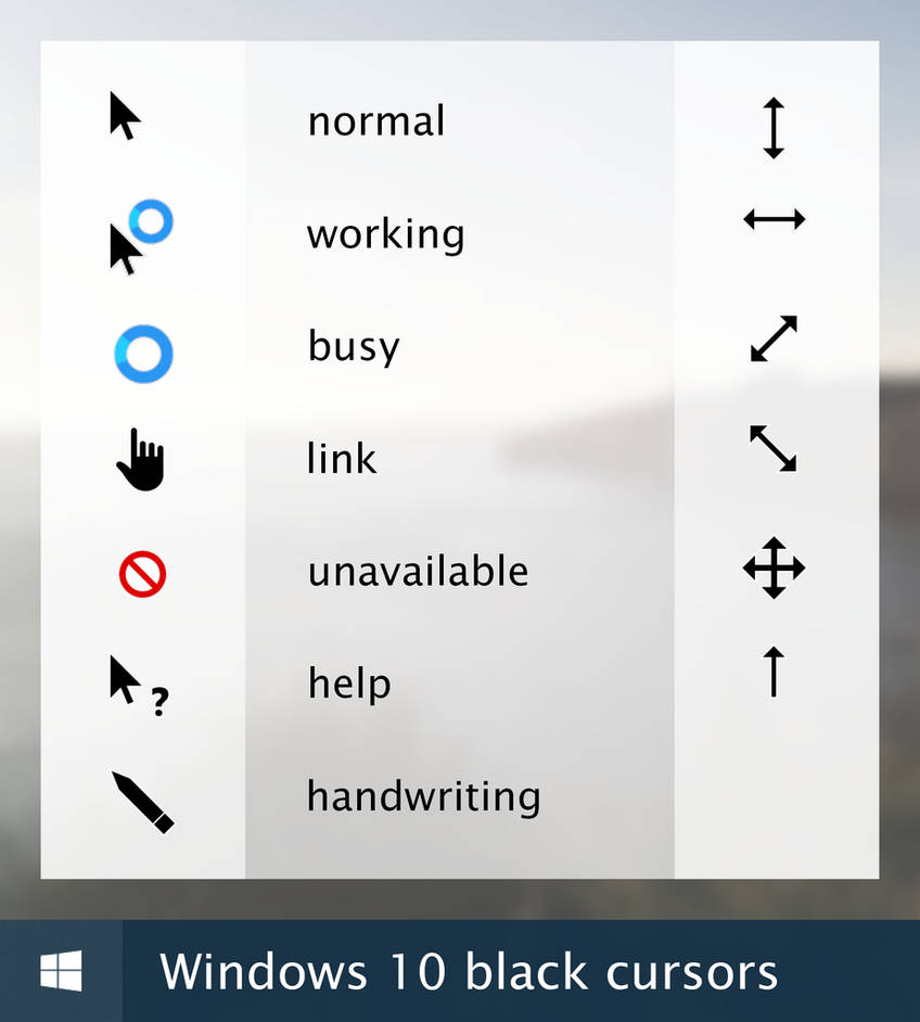 Windows 10 cursor - black version by Twipeep on DeviantArt