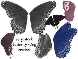 Butterfly Wing Brushes by seiyastock