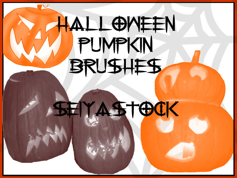 Halloween Pumpkin Brushes by seiyastock