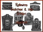 Halloween Tombstone Brushes