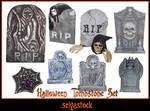 Halloween Tombstone Set