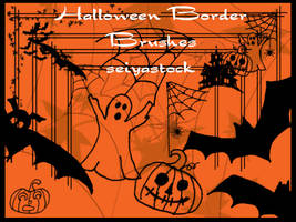 Halloween Border Brushes by seiyastock