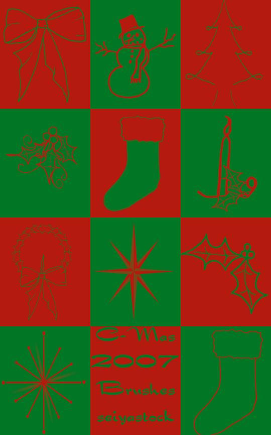 Christmas Brushes 2007 by seiyastock