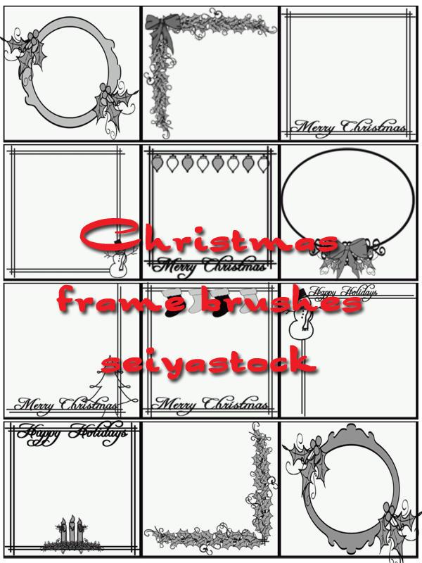 Christmas Frame Brushes by seiyastock