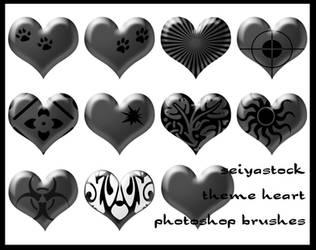 Theme Heart Photoshop Brushes by seiyastock