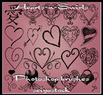 Hearts-N-Swirls PhotoshopBrush