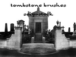 Tombstone Photoshop Brushes by seiyastock