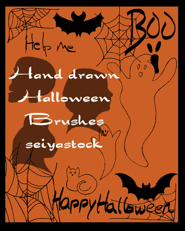 Halloween Brushes Hand Drawn by seiyastock