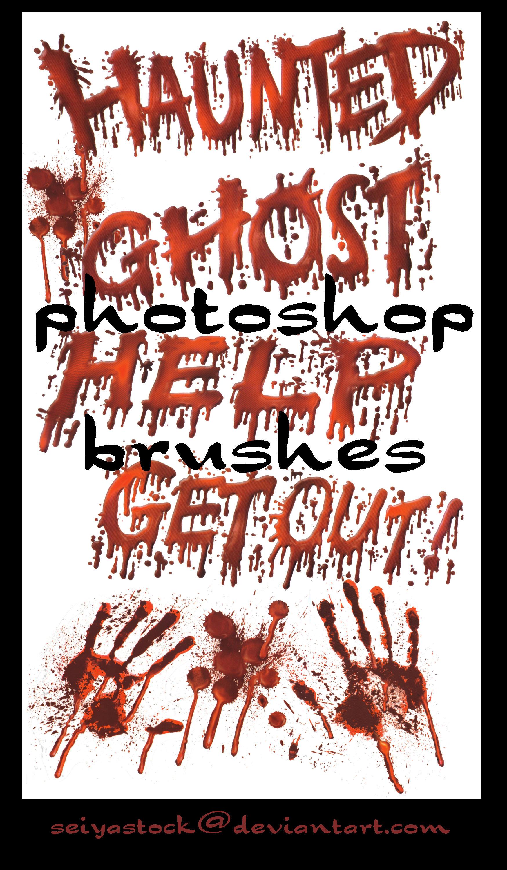 Blood Photoshop Brushes by seiyastock