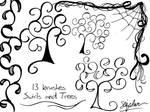 Swirly Trees Photoshop Bruses