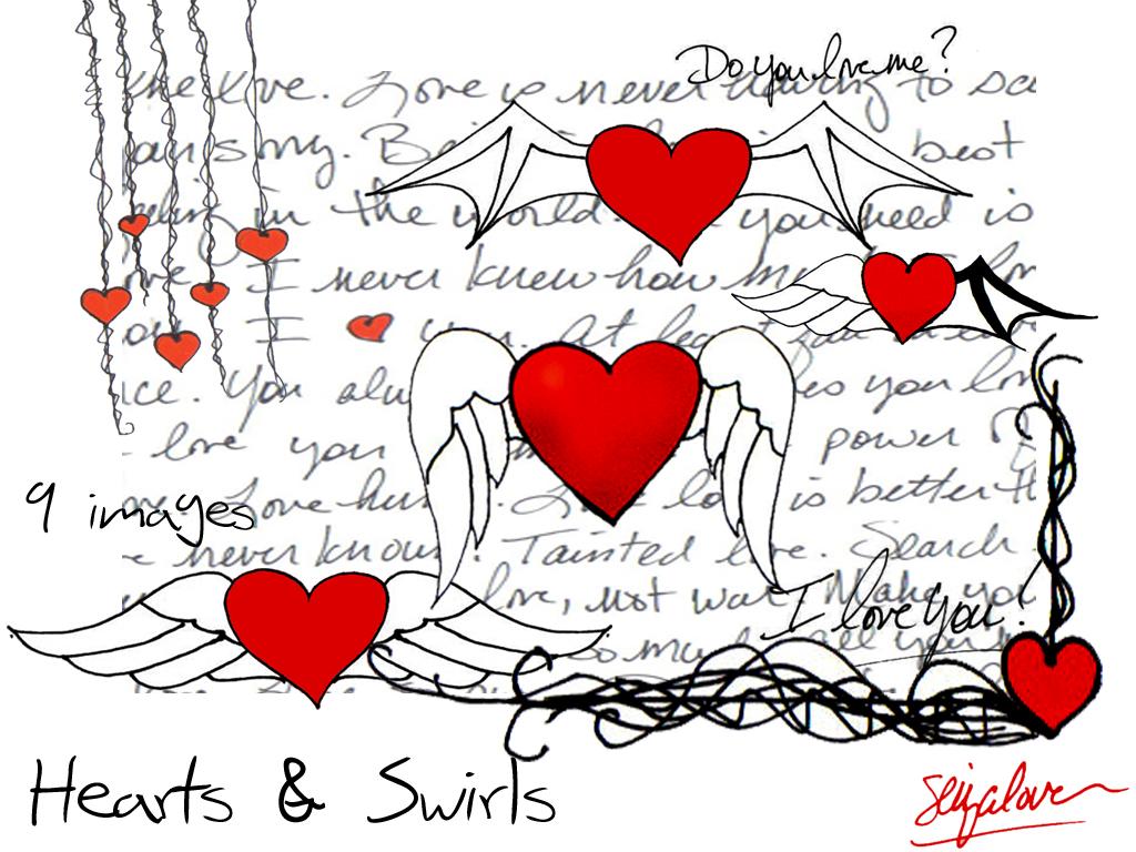 Hearts and Swirls PSD File