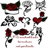 RoseTattoo-brushes by seiyastock