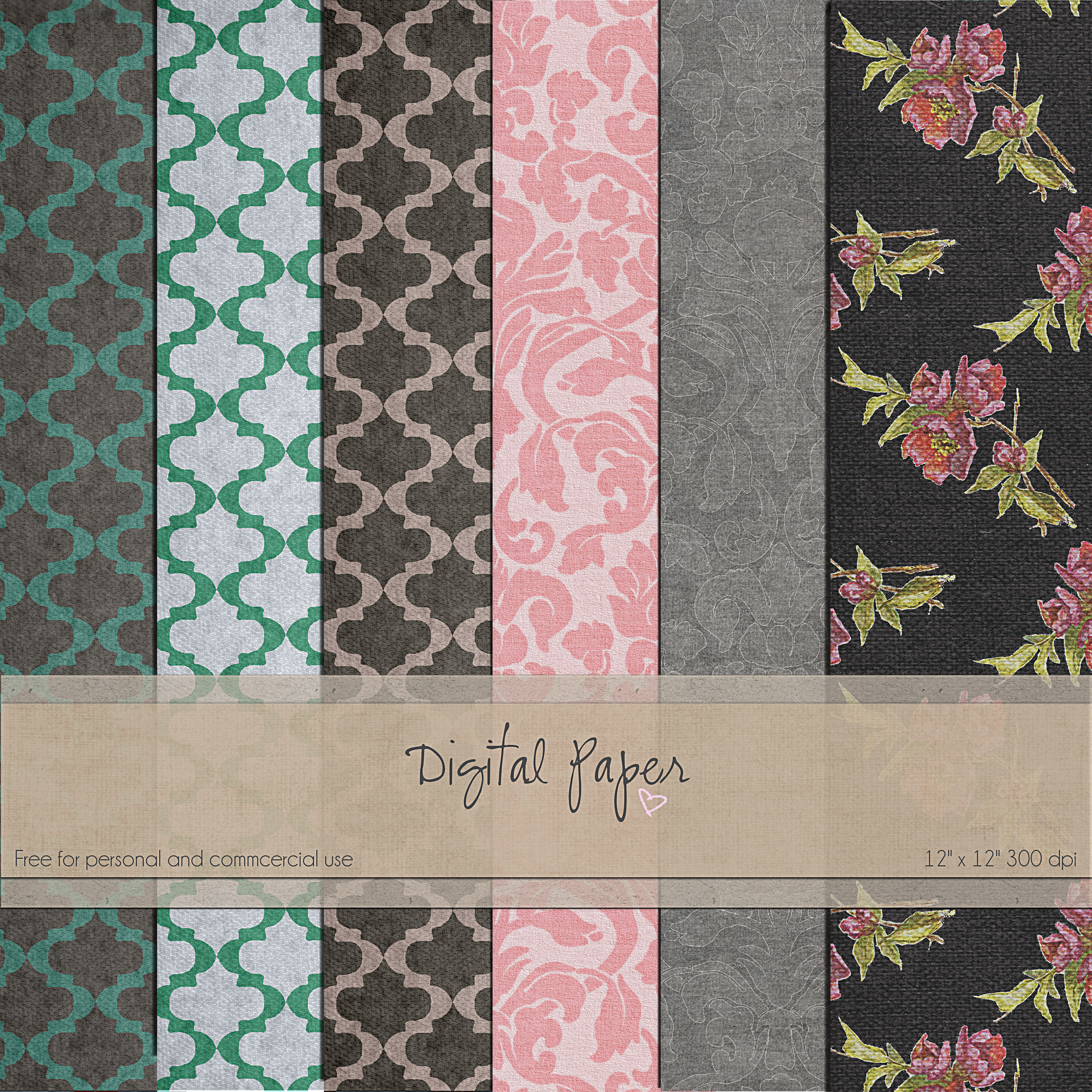 FREE Digital Paper Pack by SunnyFunLane