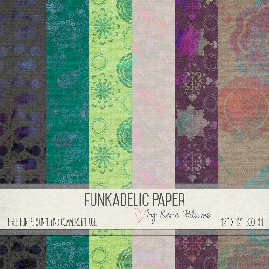 Funkadelic Paper by Rene Blooms by SunnyFunLane