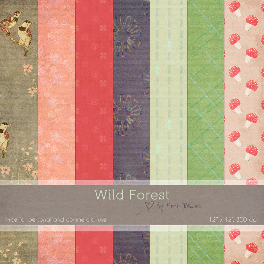 Wild Forest Digital Paper by SunnyFunLane