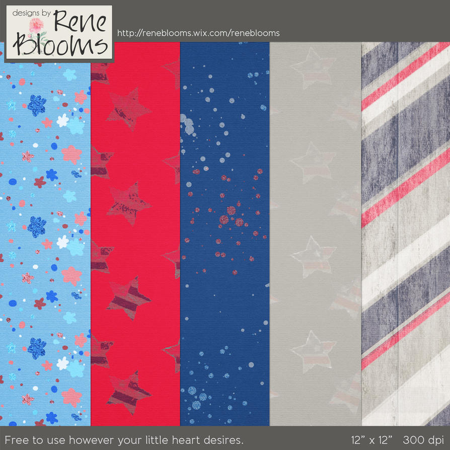 FREE July 4th Patterns by Rene Blooms by SunnyFunLane