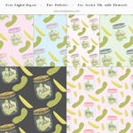 Pickle Papers and Patterns Vector