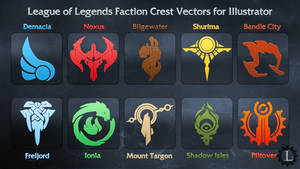 League of Legends Faction Crest Illustrator Vector