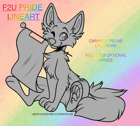 || F2U PRIDE LINEWORK | PSD + PNG FILES AVAILABLE