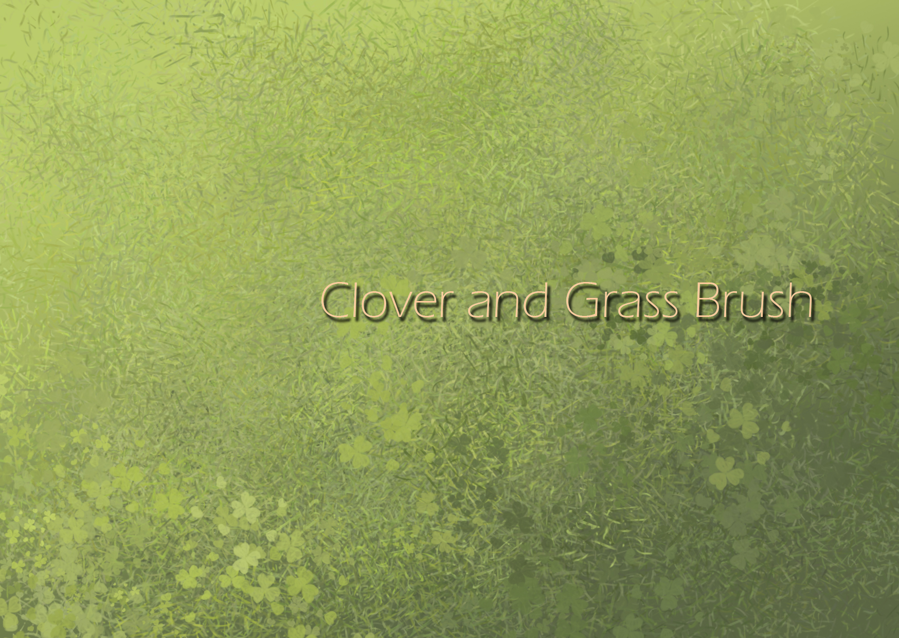 Clover and Grass brushes