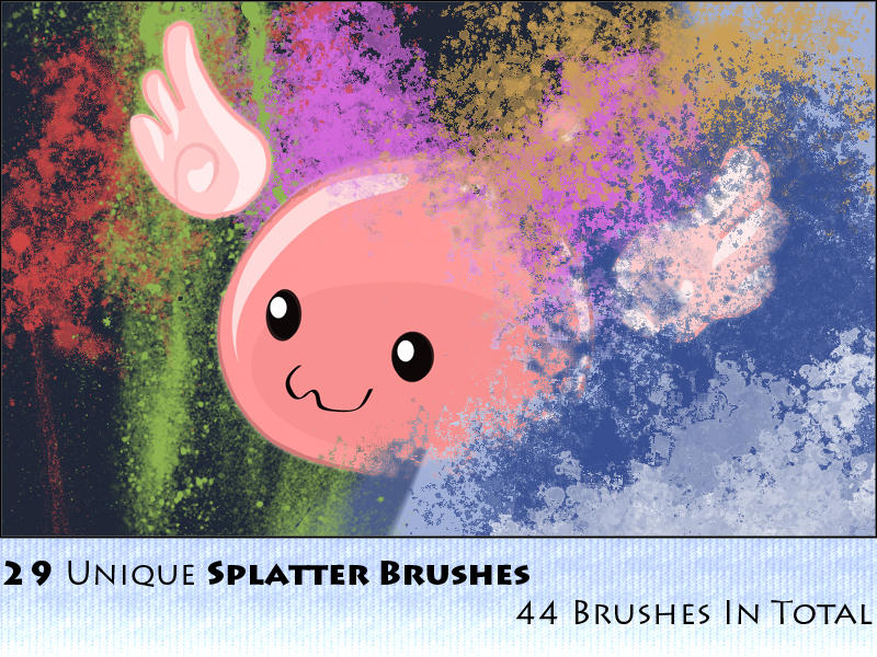 44 Splatter Brushes Pack by ssjgokuy2k
