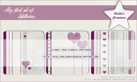 My first set of patterns by Stellas-Creations