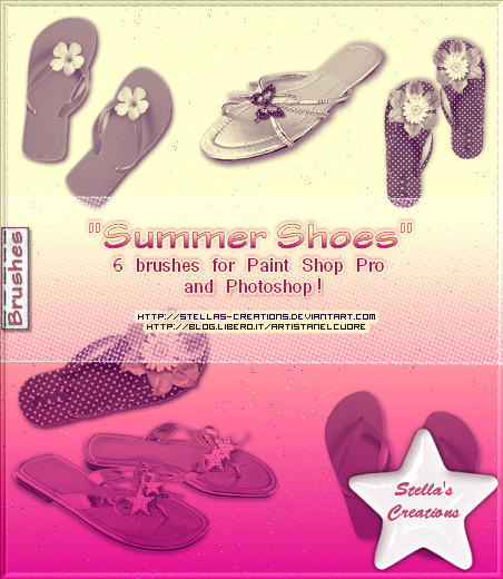 Summer Shoes by Stellas-Creations