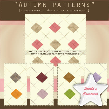 Autumn patterns - Set 1 by Stellas-Creations