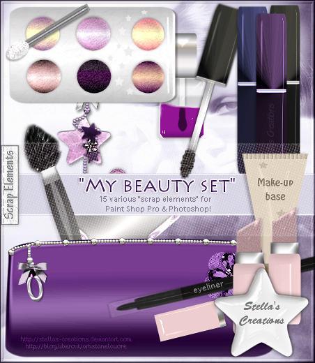 My beauty set - © Blog Stella's Creations: http://sc-artistanelcuore.blogspot.com