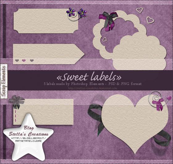 Sweet labels - © Blog Stella's Creations: http://sc-artistanelcuore.blogspot.com
