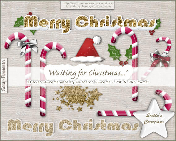 Waiting for Christmas - © Blog Stella's Creations: http://sc-artistanelcuore.blogspot.com
