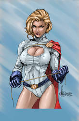 Power Girl color by annsiri