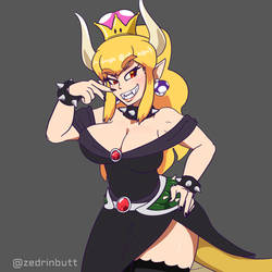 Bowsette Hime (Animated) by Zedrin